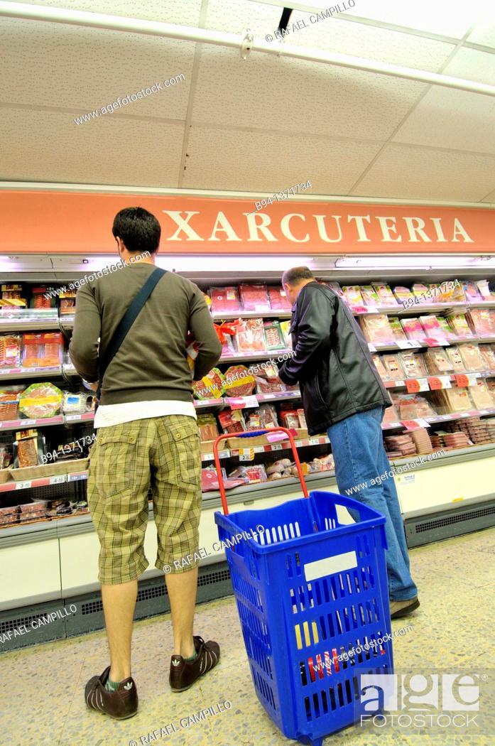 Stock Photo: Supermarket, Barcelona, Catalonia, Spain.