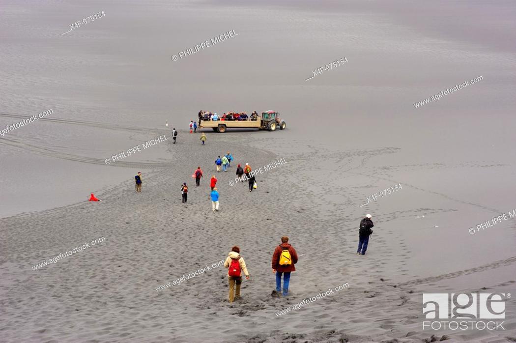 Stock Photo: Tourist group, Iceland.
