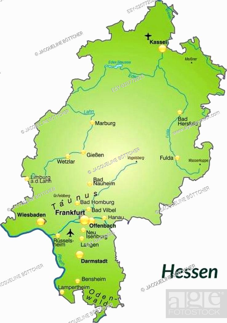 Map Hesse Border Stock Photos And Images Agefotostock