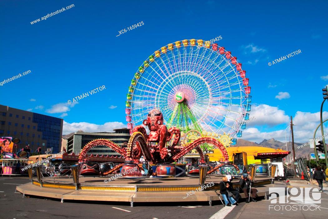 Stock Photo: big wheel, ferris wheel.