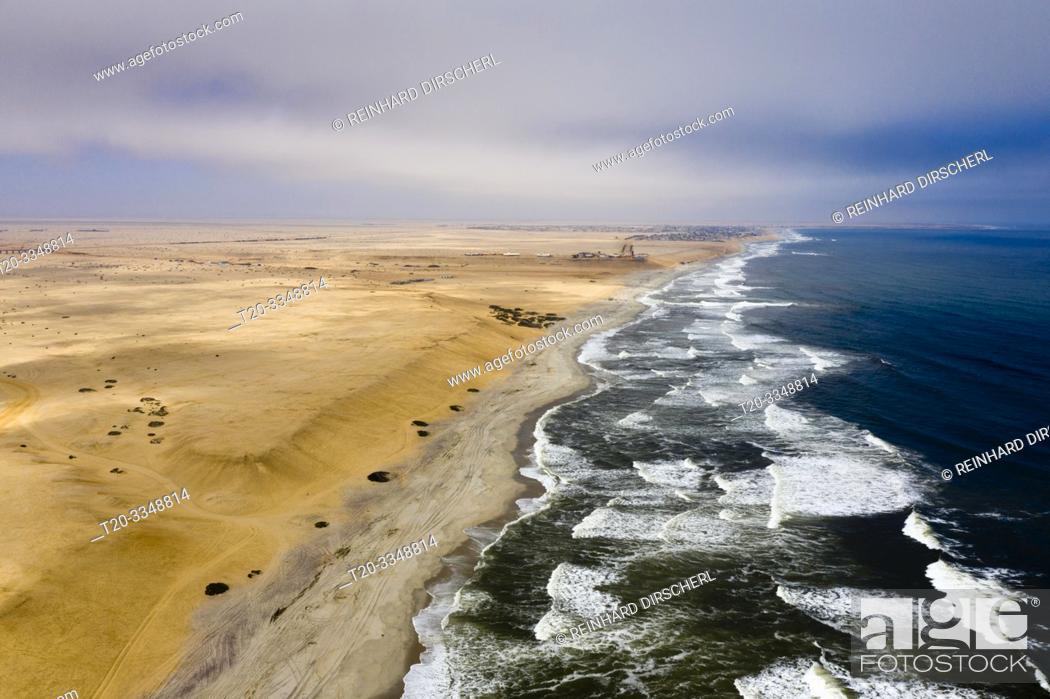 Stock Photo: Coast near Henties Bay, Henties Bay, Namibia.