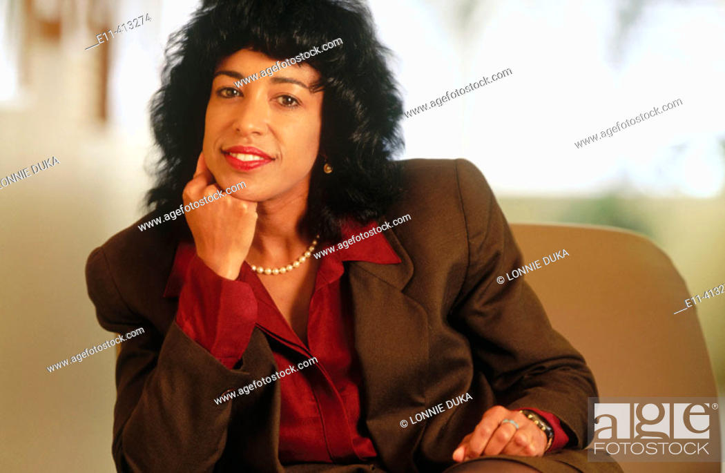 Stock Photo: Portrait of African-American businesswoman.
