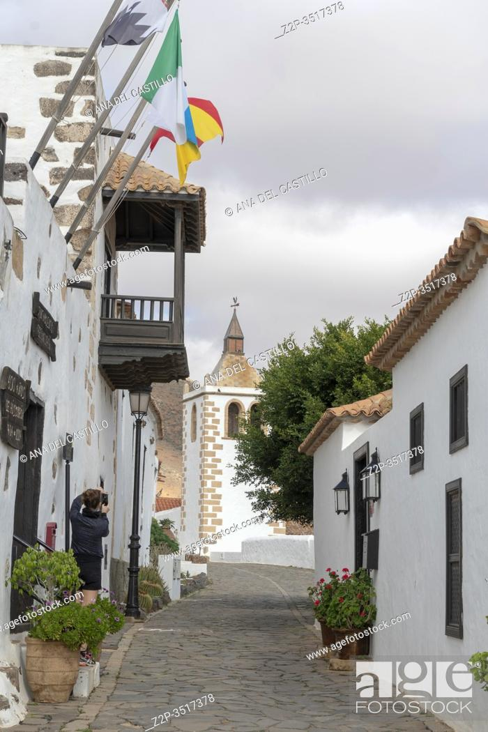 Stock Photo: Fuerteventura Canary islands Spain on December 13, 2019. The historic town of Betancuria.