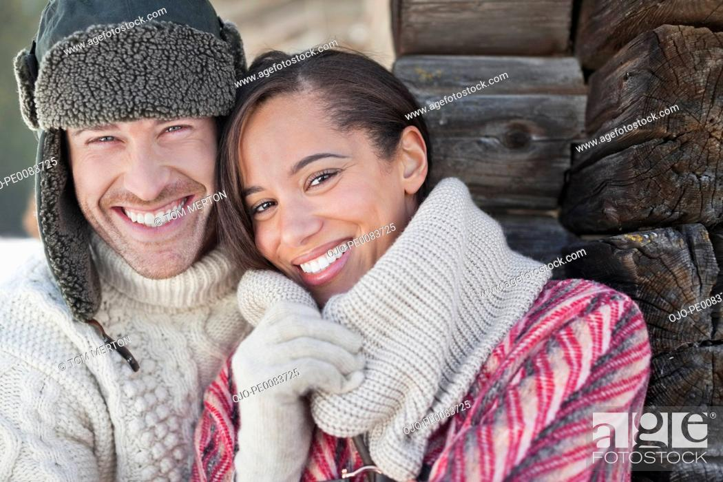 Stock Photo: Close up portrait of smiling couple.