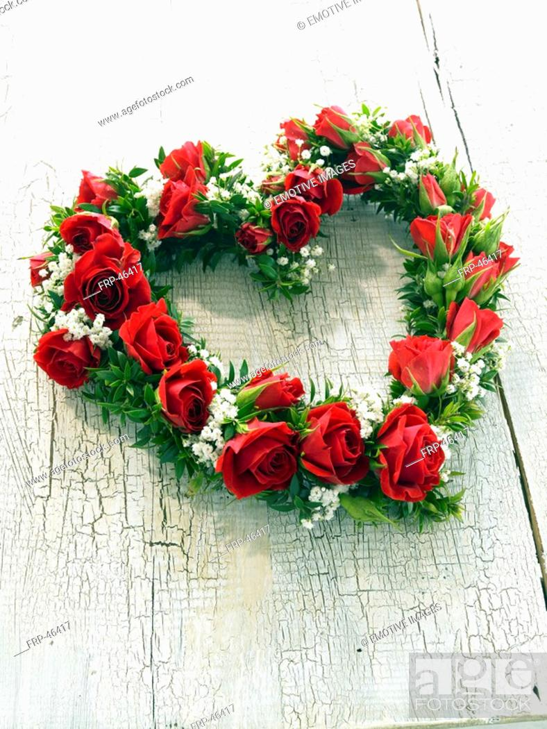 Stock Photo: Flowers in heart form.