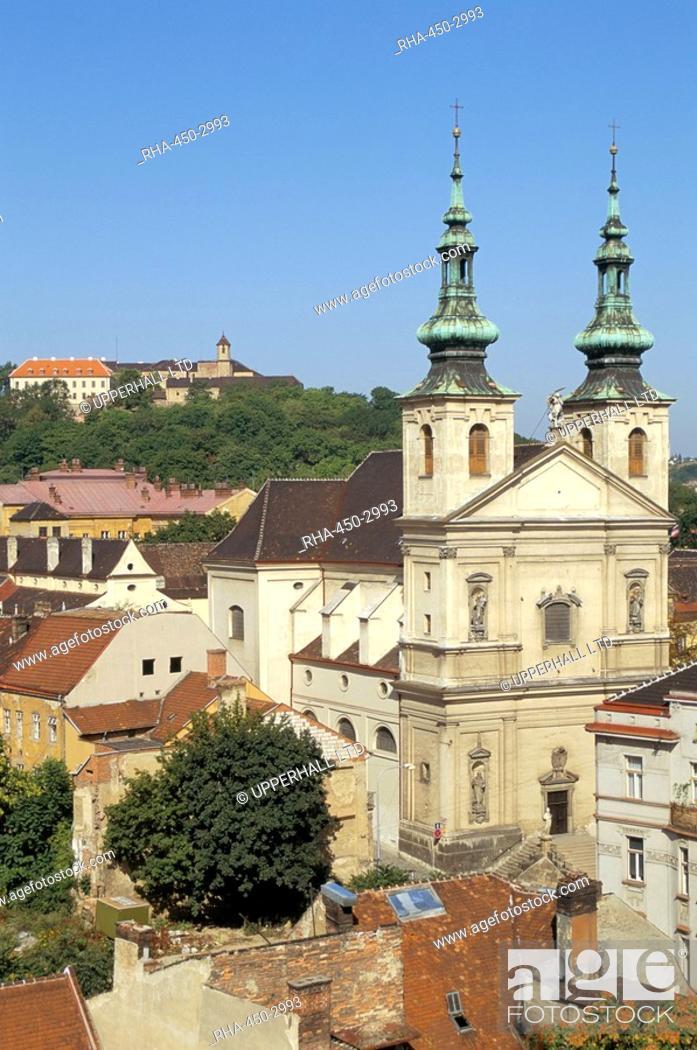Stock Photo: Church of Poor Clares, Castle, Bratislava, Slovakia, Europe.