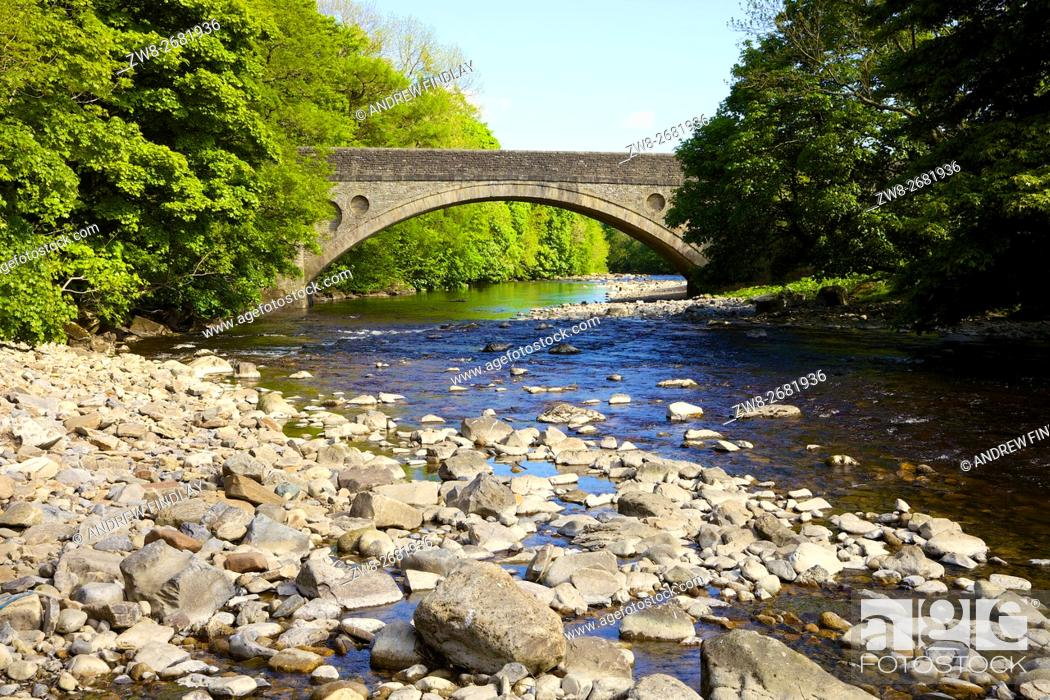 Stock Photo: Middleton Bridge over the River Tees, Road bridge on the B6277. Middleton-in-Teesdale, County Durham, England, United Kingdom, Europe.
