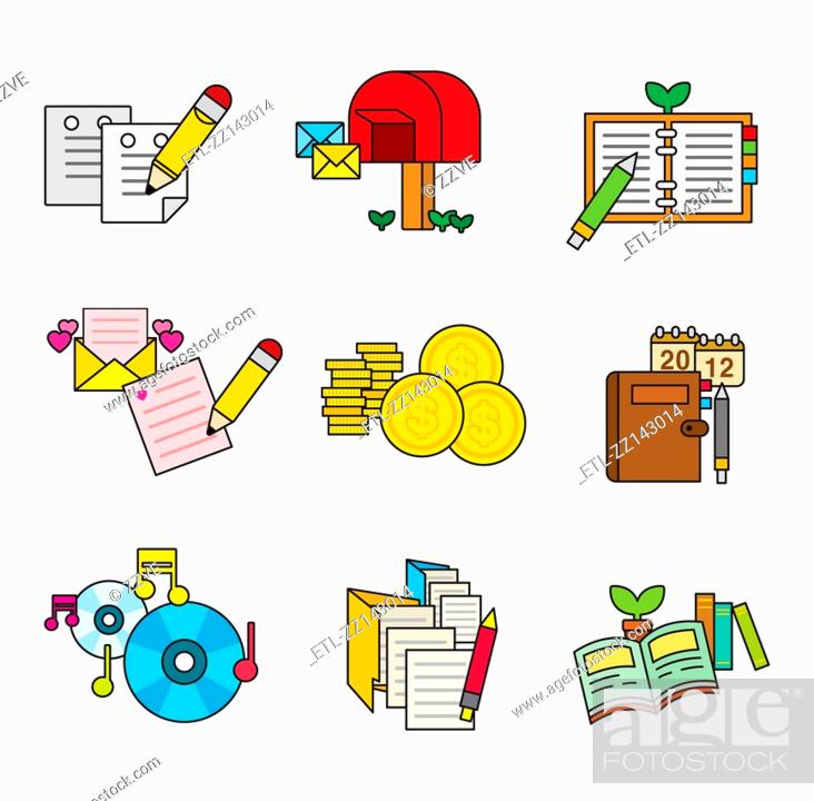 Stock Photo: A variety of writing tools.