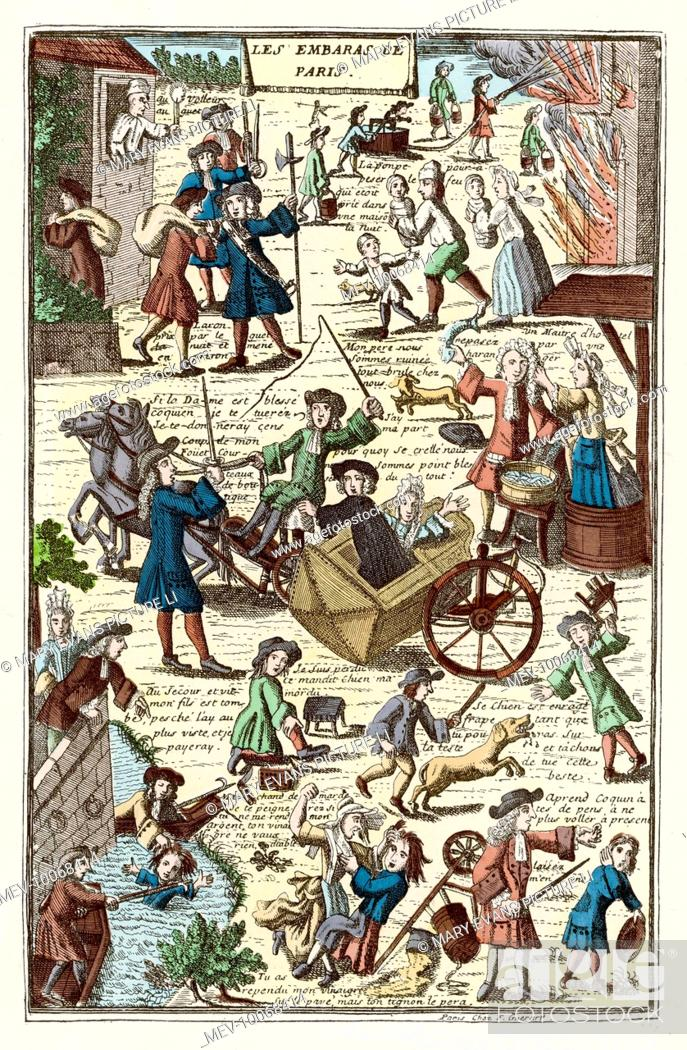 LES EMBARRAS DE PARIS' Barking dogs, beggars, carriage