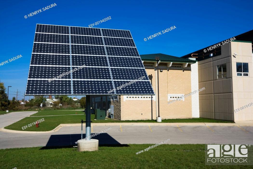 Stock Photo: Solar panel.