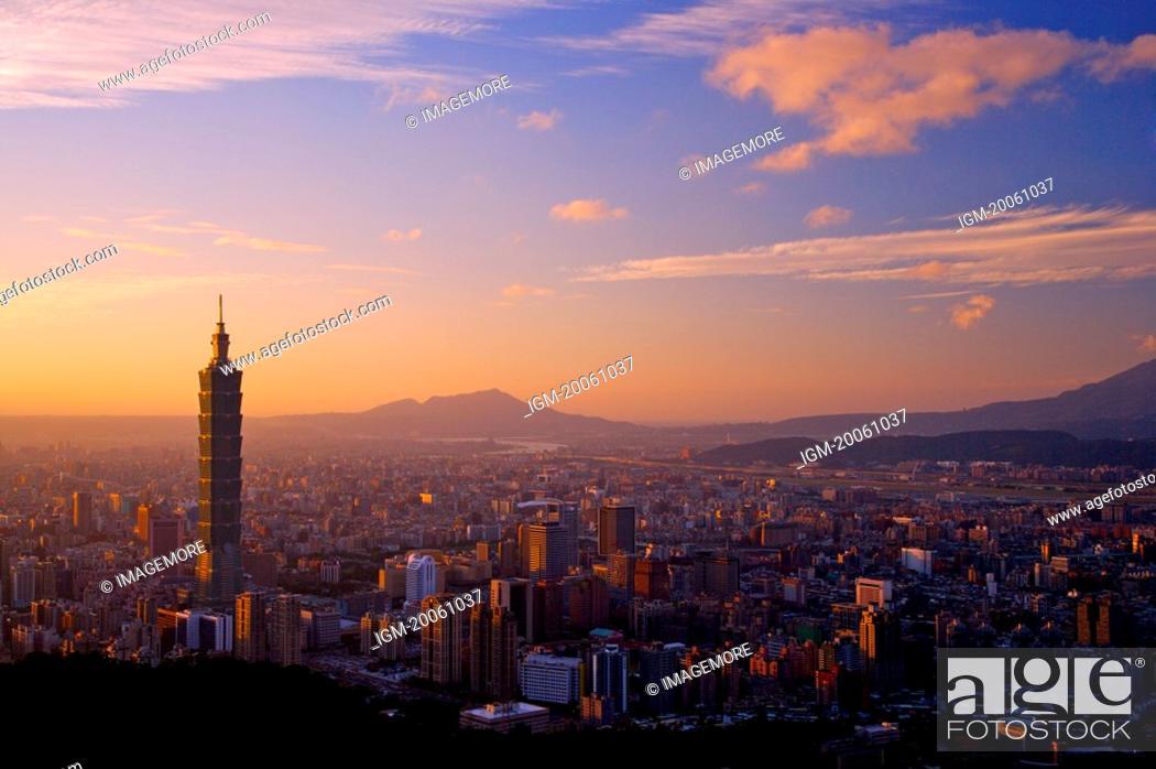Stock Photo: Taiwan, Taipei, Taipei 101.