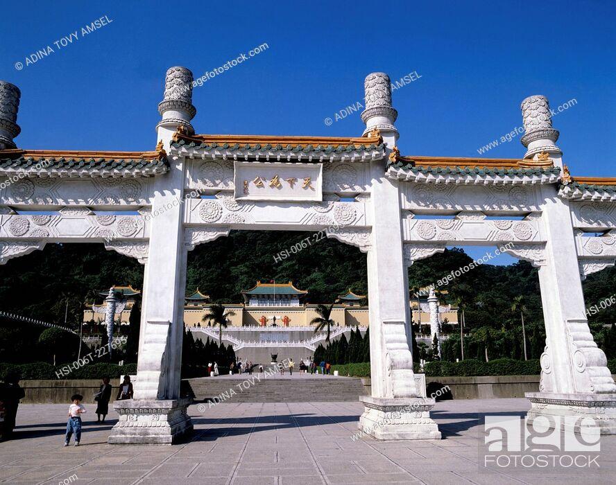 Stock Photo: National Palace Museum. Taipei. Taiwan.