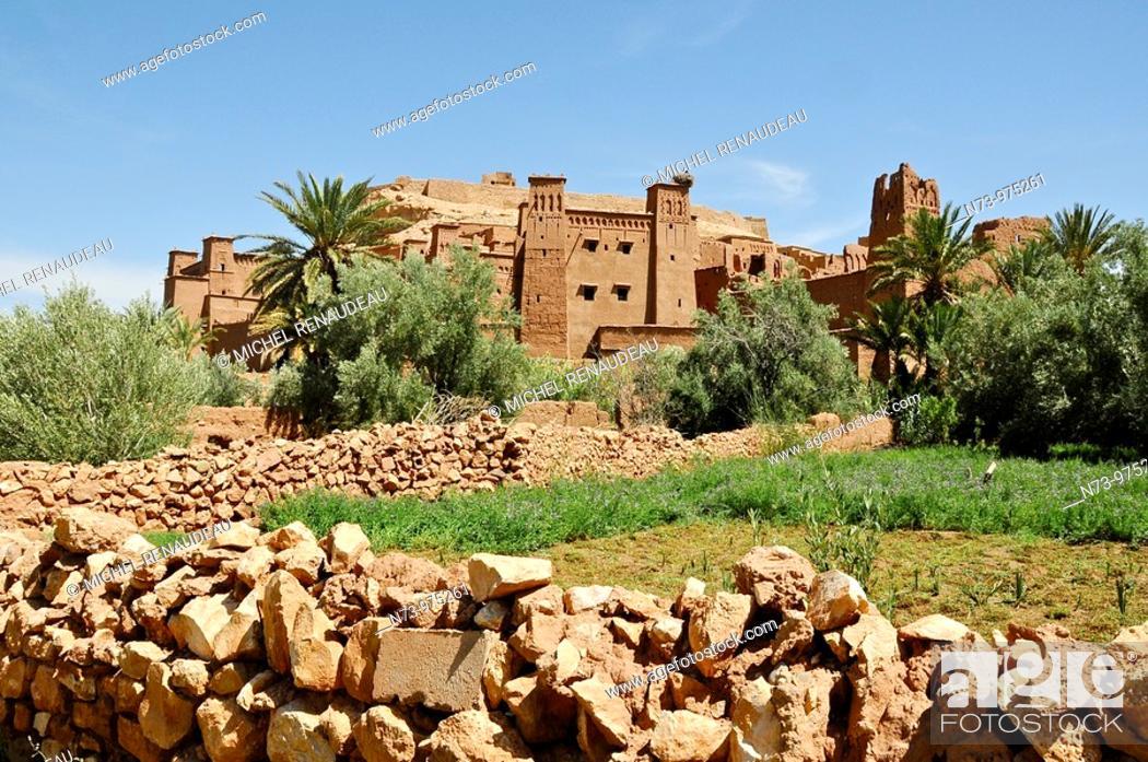 Stock Photo: Maroc, Haut Atlas, Province de Ouarzazate, Ksar d'Aït-Ben-Haddou, classé Patrimoine Mondial de l'UNESCO.