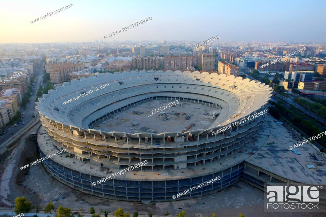 Stock Photo: New Mestalla Stadium, Valencia, Spain.