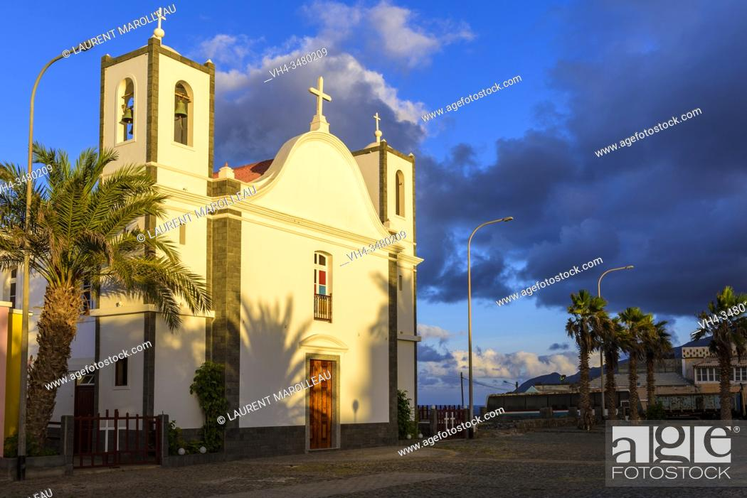 Stock Photo: Our Lady of Deliverance Church, Ponta do Sol Village, Ribeira Grande Municipality, Santo Antao, Cape Verde Islands, Africa.