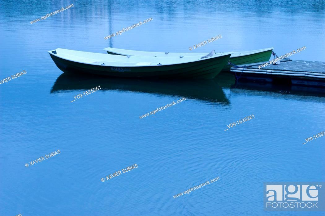 Stock Photo: Boats on the Lake Toolonlahti, Helsinki, Uusimaa, Finland.