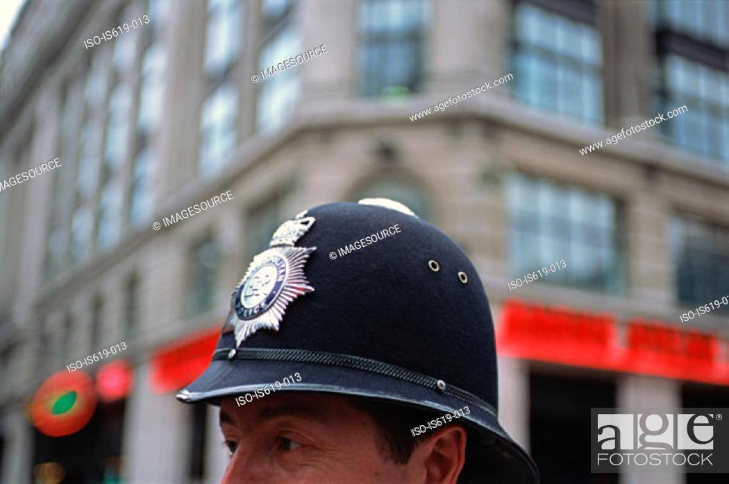 Stock Photo: British policeman.