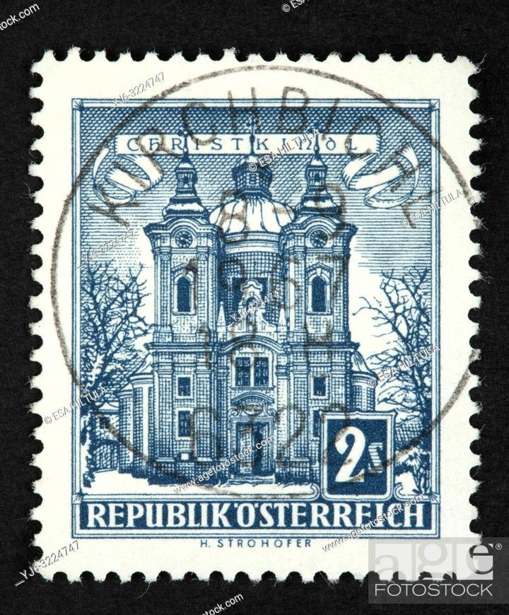 Stock Photo: Austrian postage stamp.