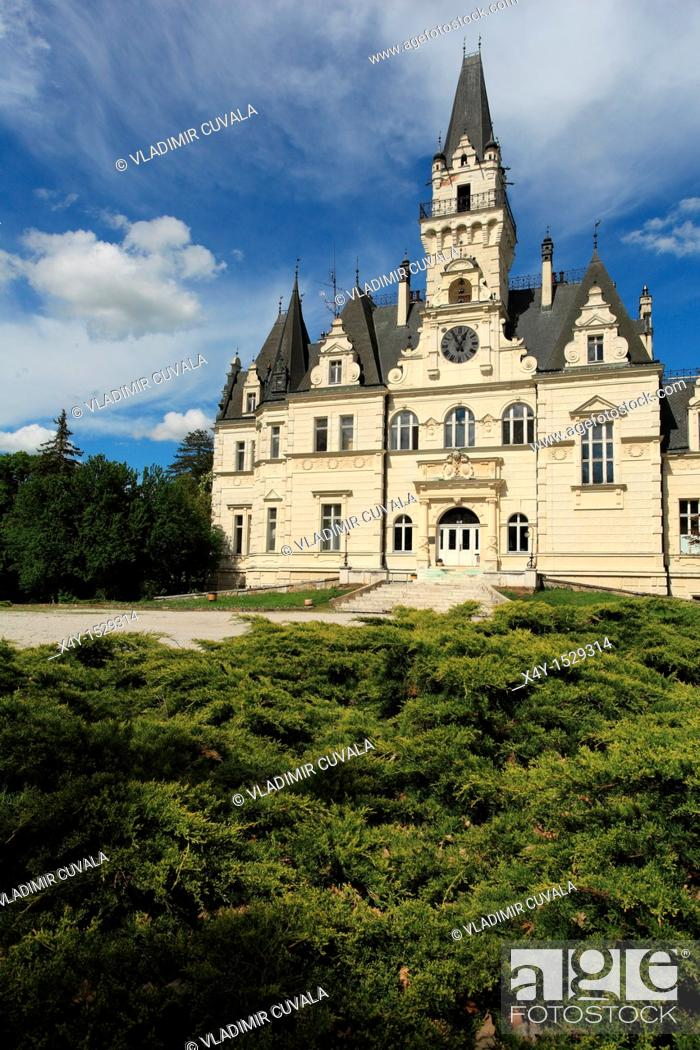 Stock Photo: The romantic manor house in Budmerice, Slovakia.
