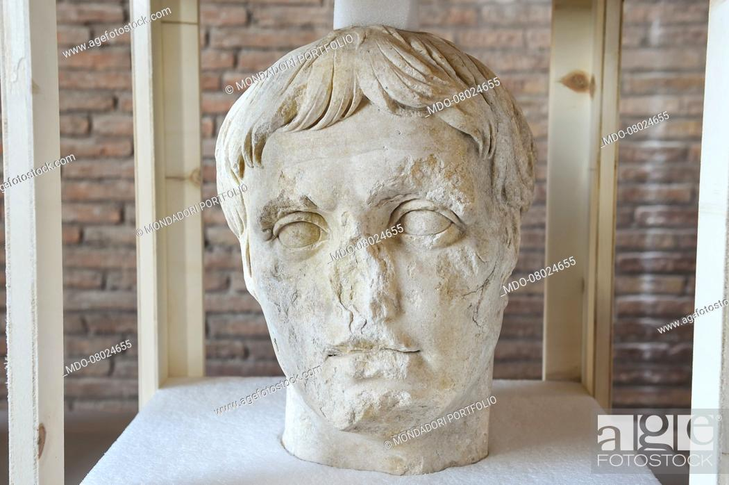Stock Photo: The archaeological excavation of Via Alessandrina was concluded, bringing to light a new portion of the Imperial Forums, with exceptional finds such as the head.