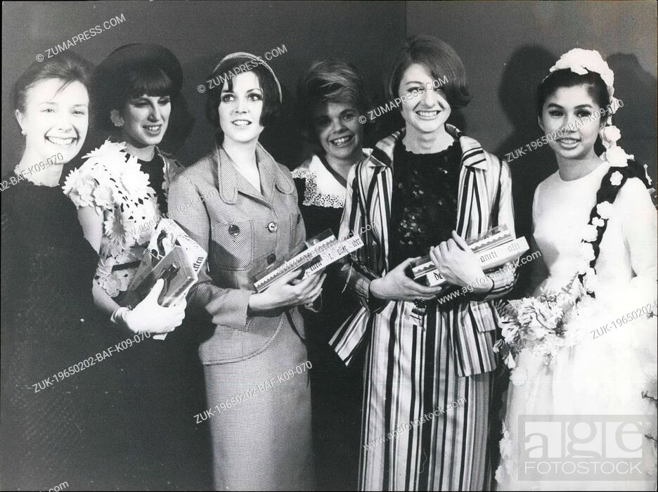 Stock Photo: Feb. 02, 1965 - British fashion girls were the loveliest and the most cleverest: At St. Gall the 'Rencontre de la Jeune Mode'.