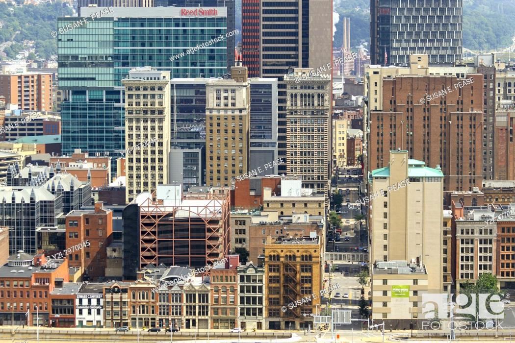 Stock Photo: Architecture in downtown Pittsburgh, Pennsylvania, United States.