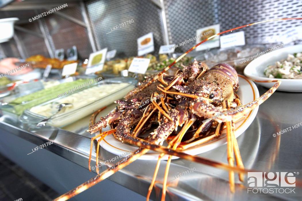 Stock Photo: Lobster on a plate, Restaurant Doga Balik, Istanbul, Turkey.
