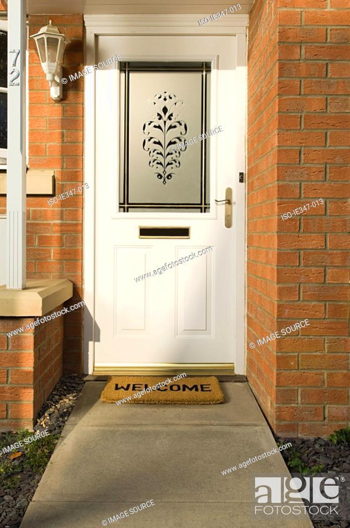 Stock Photo: Front door of house.