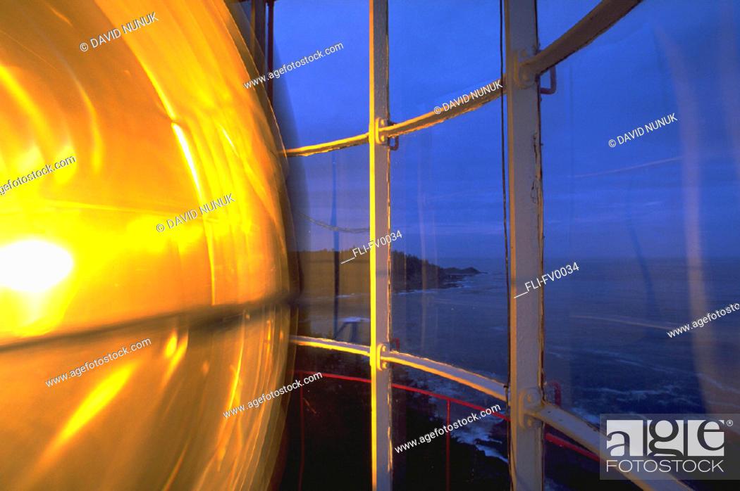 Stock Photo: Lighthouse bulb, 500 watt @ Langara light station Queen Charlotte Islands.