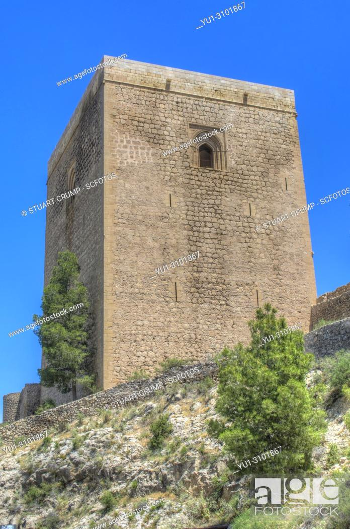 Stock Photo: HDR image of the Alfonsina Tower at Lorca Castle Murcia Spain.