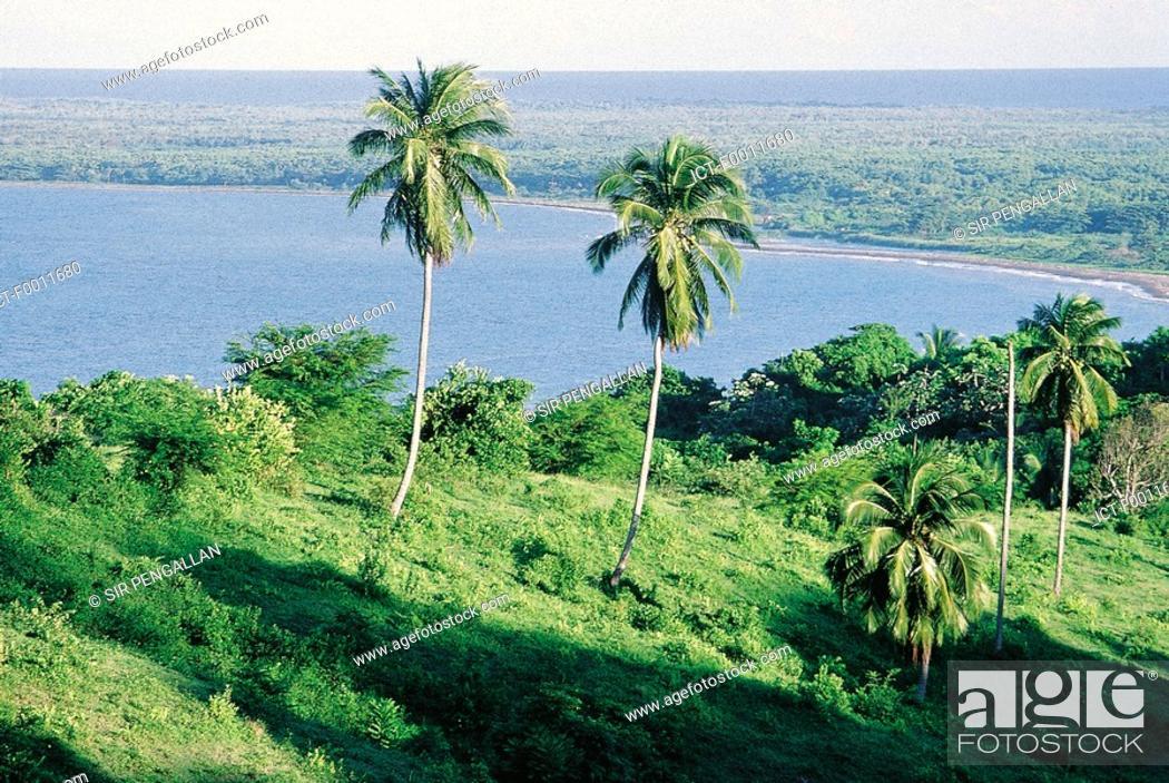 Stock Photo: Jamaica, Golden Grove shoreline.