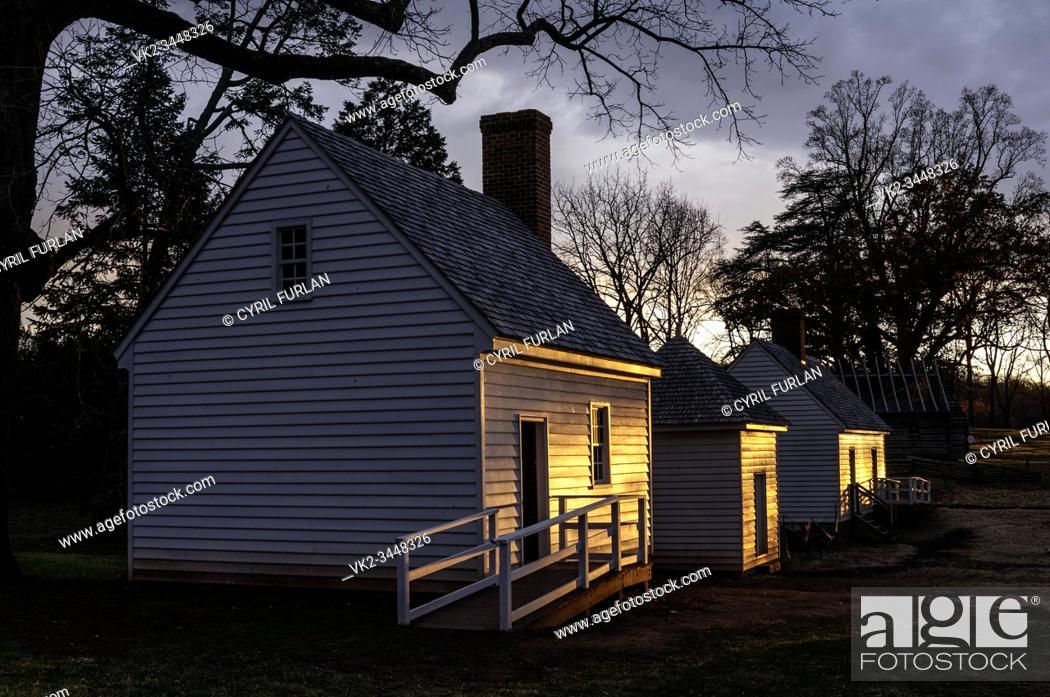 Stock Photo: Slave Quarters Montpelier.