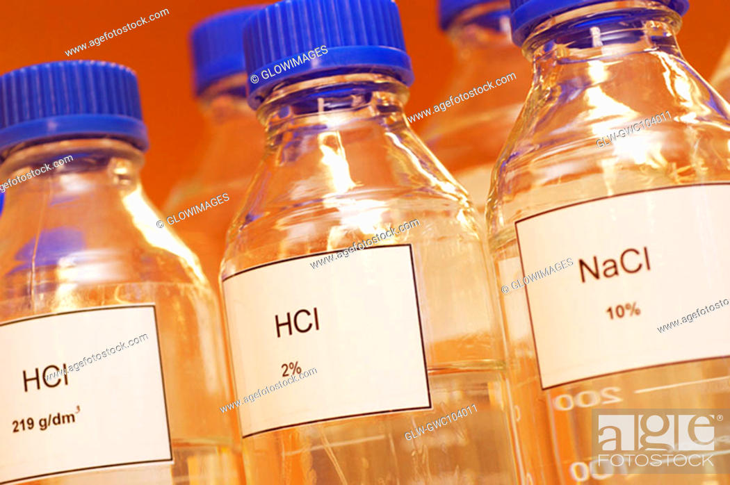 Stock Photo: Close-up of bottles.