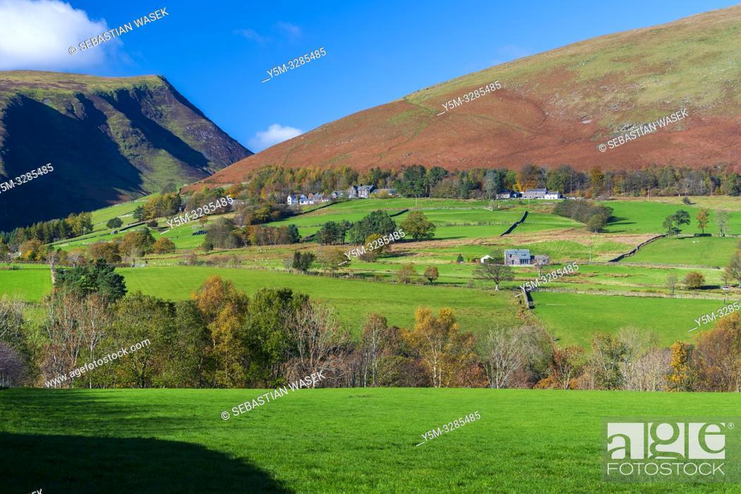 Stock Photo: Cumbrian landscape near Castlerigg Stone Circle, Lake District National Park, Keswick, Cumbria, England, UK, Europe.