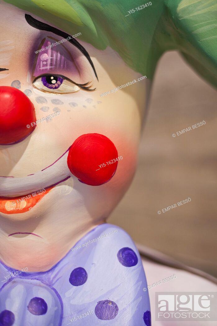Imagen: Ninot (satirical puppet), fallas festival. Valencia. Spain.