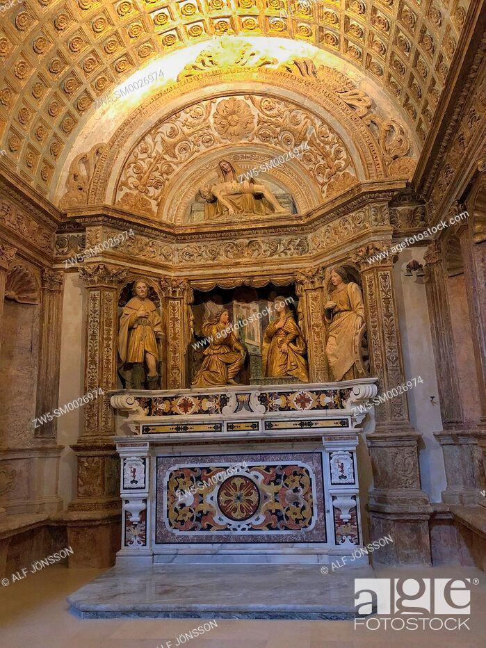 Stock Photo: Interior in Matera Cathedral, Matera, Basilicata; Italy.