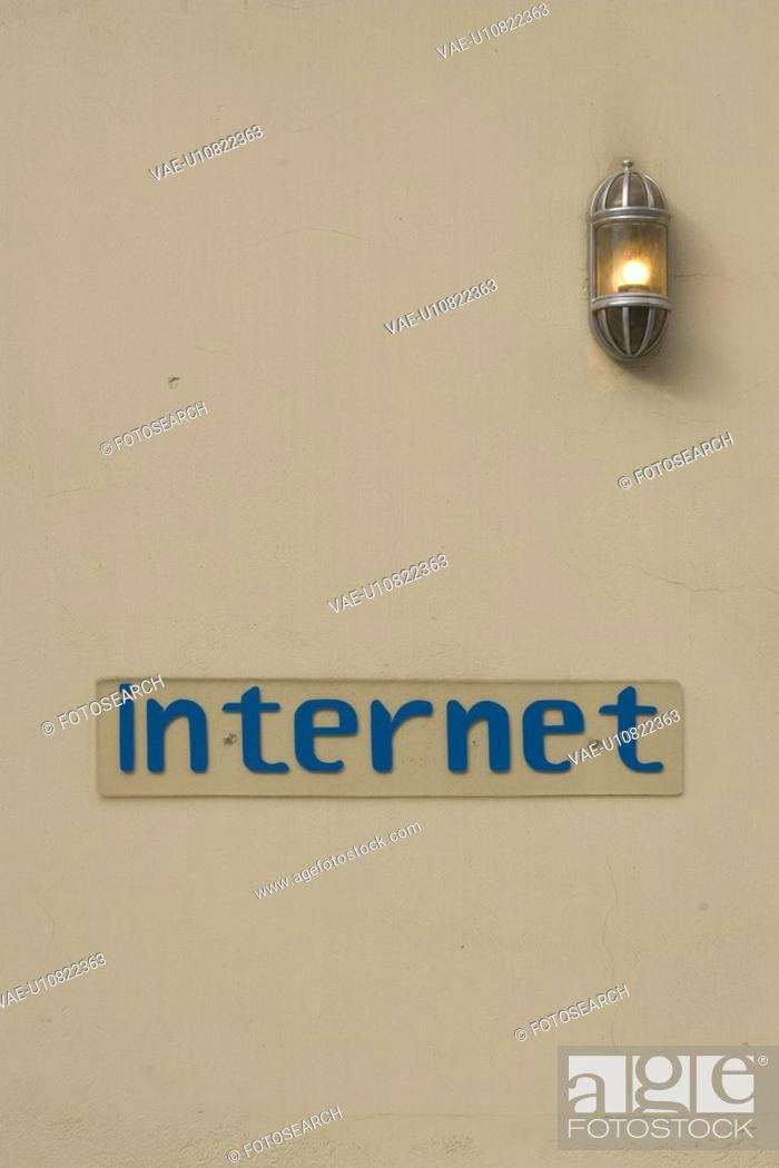 Stock Photo: Close-Up, Information Board, Internet, Light Bulb.