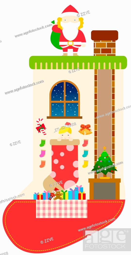 Stock Photo: Christmas Interior.