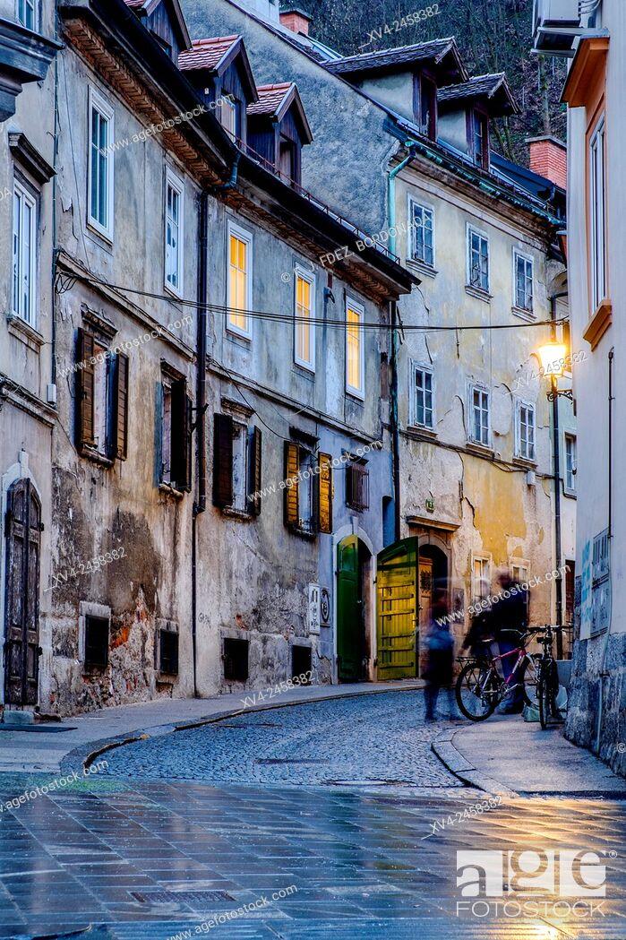 Stock Photo: Študentovska ulica, Ljubljana, Slovenia, Europe.