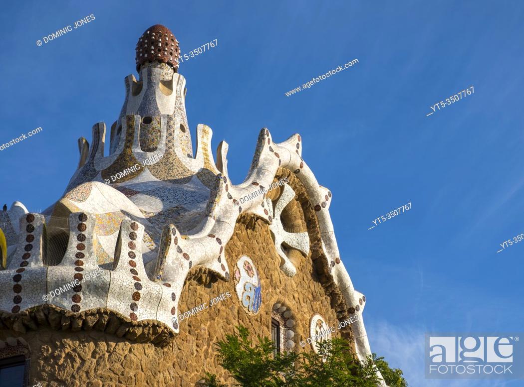 Stock Photo: Designed by Catalan architect Antoni Gaudí , Barcelonâ. . s Park Güell.