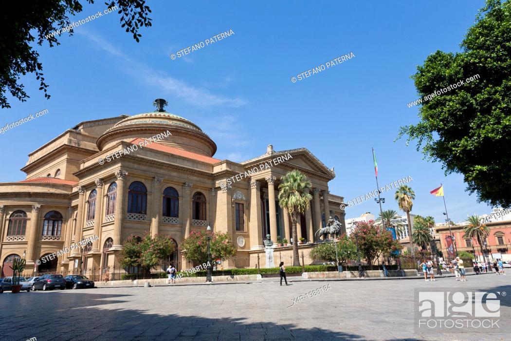 Teatro Massimo, Opera House, Palermo, Sicily, Italy, Stock Photo ...