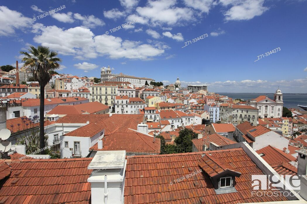 Stock Photo: Portugal, Lisbon, Alfama, skyline, general view, panorama, .