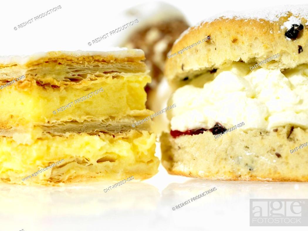 Stock Photo: Assorted Cream Cakes.