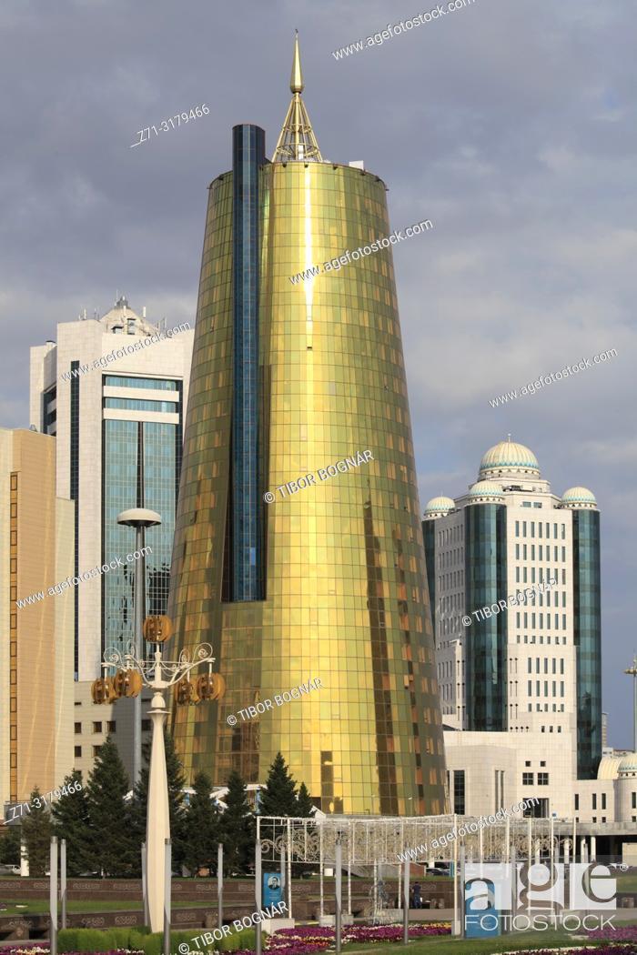 Stock Photo: Kazakhstan; Astana, Ministries, government buildings,.