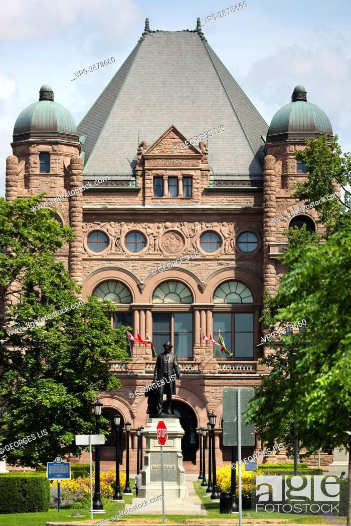 Imagen: Ontario Legislative Assembly building Queen's Park downtown Toronto.