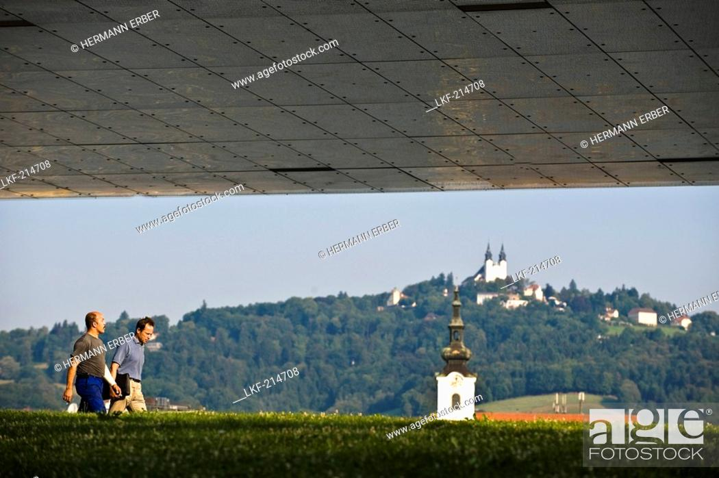 Stock Photo: View from the Museum of Modern Art at Poestlingberg, Linz, Upper Austria, Austria.
