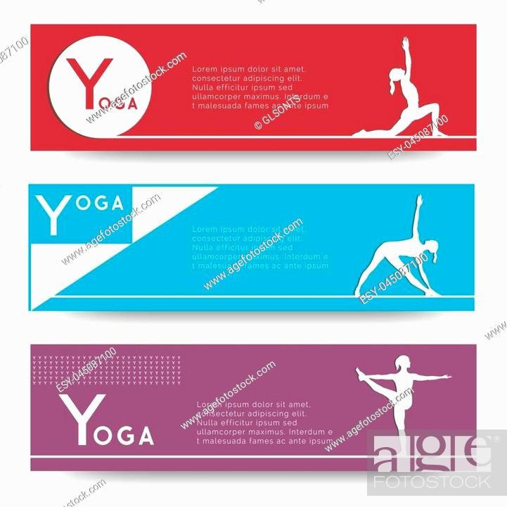 Yoga Vector Banner Professional Banner Templates Or Banner Design For Yoga Studio For Yoga Website Stock Vector Vector And Low Budget Royalty Free Image Pic Esy 045087100 Agefotostock