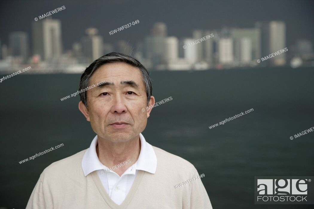 Stock Photo: Portrait of a serious man.