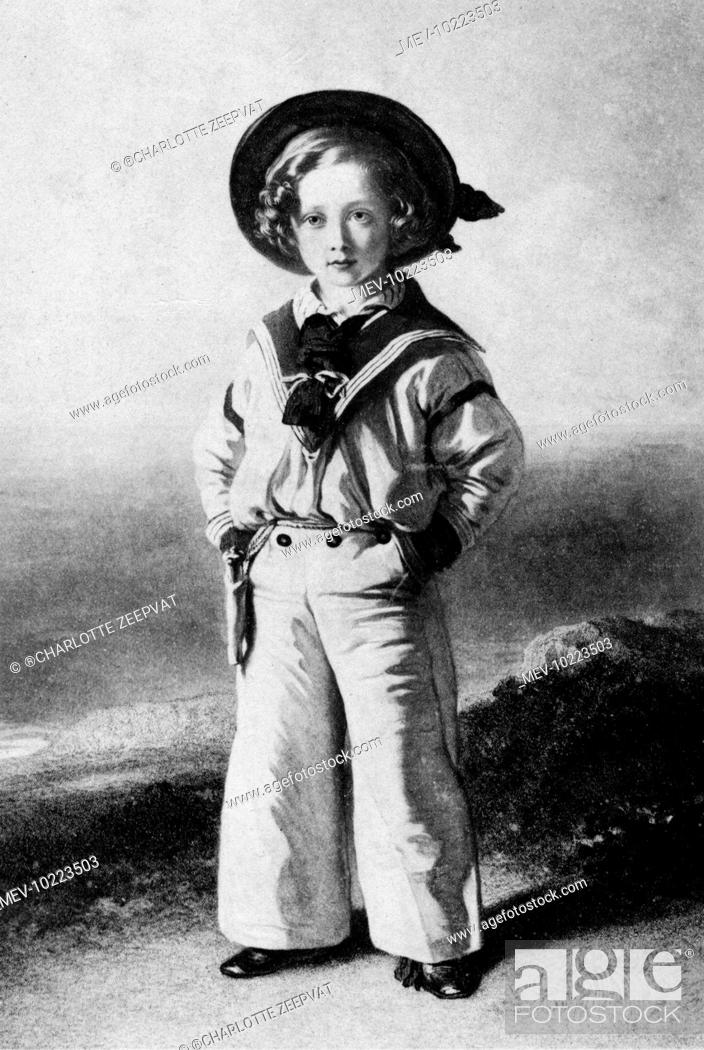 Stock Photo: Prince Albert Edward, Prince of Wales, King Edward VII (1841-1910) dressed in a sailor suit, after a painting by Winterhalter.