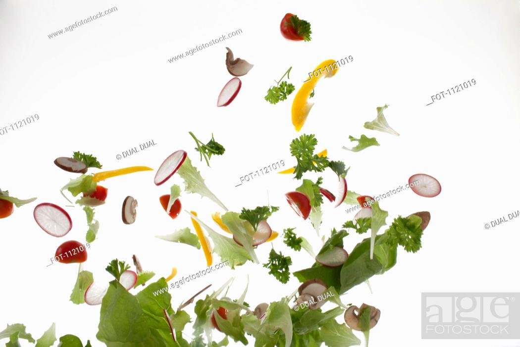 Stock Photo: Salad against a white background.